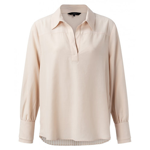Yaya Pale Pink Pleated Back Shirt