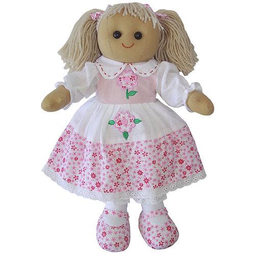 Pink Floral Rag Doll