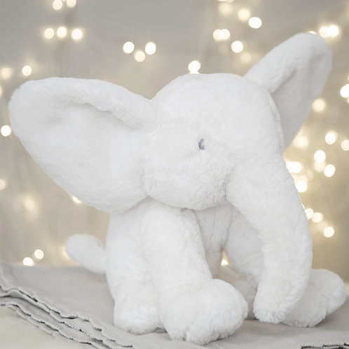 Large White Plush Elephant