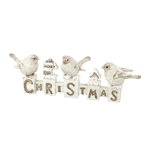 Christmas Letters with Birds