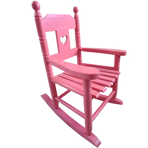 Pink Childrens Rocking Chair