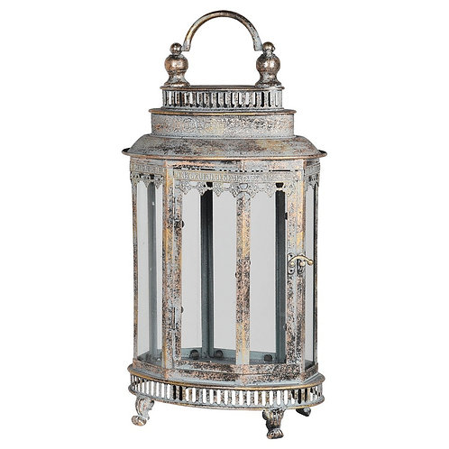 Small Oval Metal Lantern