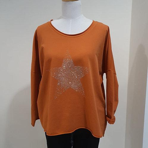 Burnt Orange Star Top