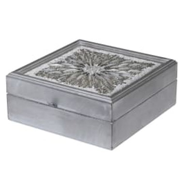 Silver Beaded Keepsake Box