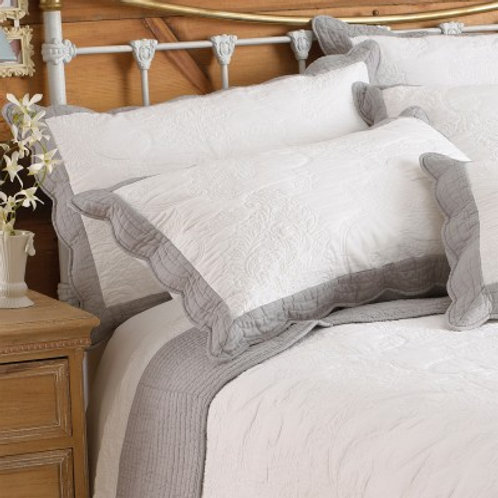 Fayence Grey & White Bedspread