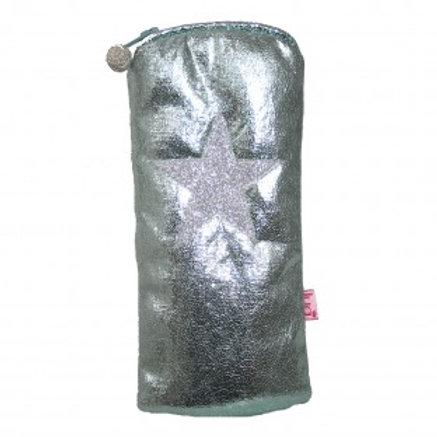 Mint Green Glitter Star Glasses Case