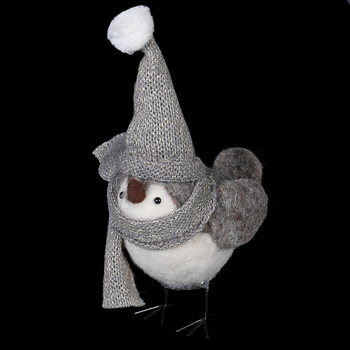 Bird With Bobble Hat Decoration