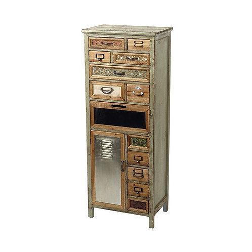 Green Wooden Multi Drawer Cabinet