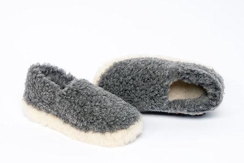 Grey Siberian Slippers