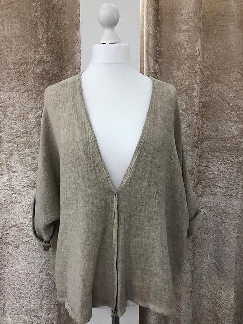 Linen Cotton Blend Jacket