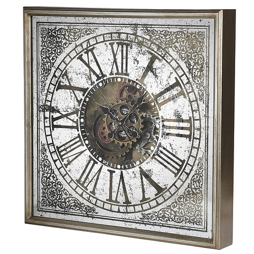 Square Mechanical Wall Clock
