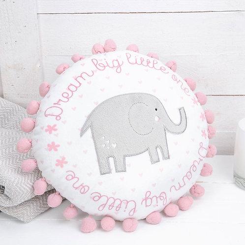 Pink Round Baby Cushion