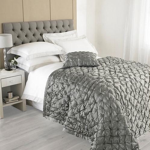 Grey Pintuck Quilt