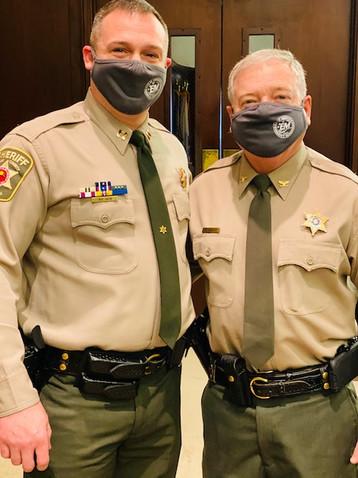 Sheriff Elect Akin and Sheriff Vescovo.j