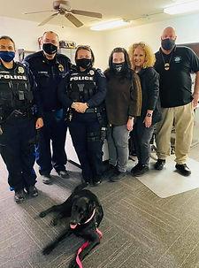 K9 Lola visiting Smithville Police Depar