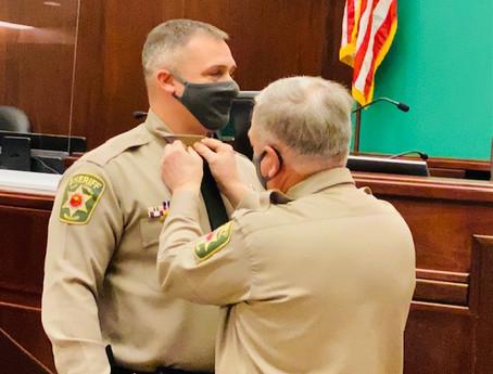 Sheriff Vescovo pinning Sheriff Akin - C