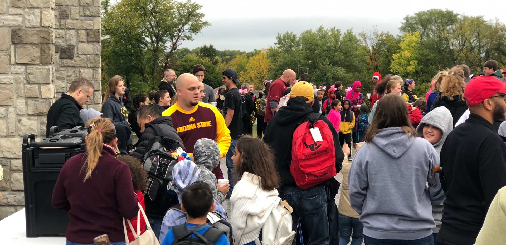 Captain Will Akin participating in the 3rd Annual Ravenwood Elementary School #WalkToSchoolDay 2018.