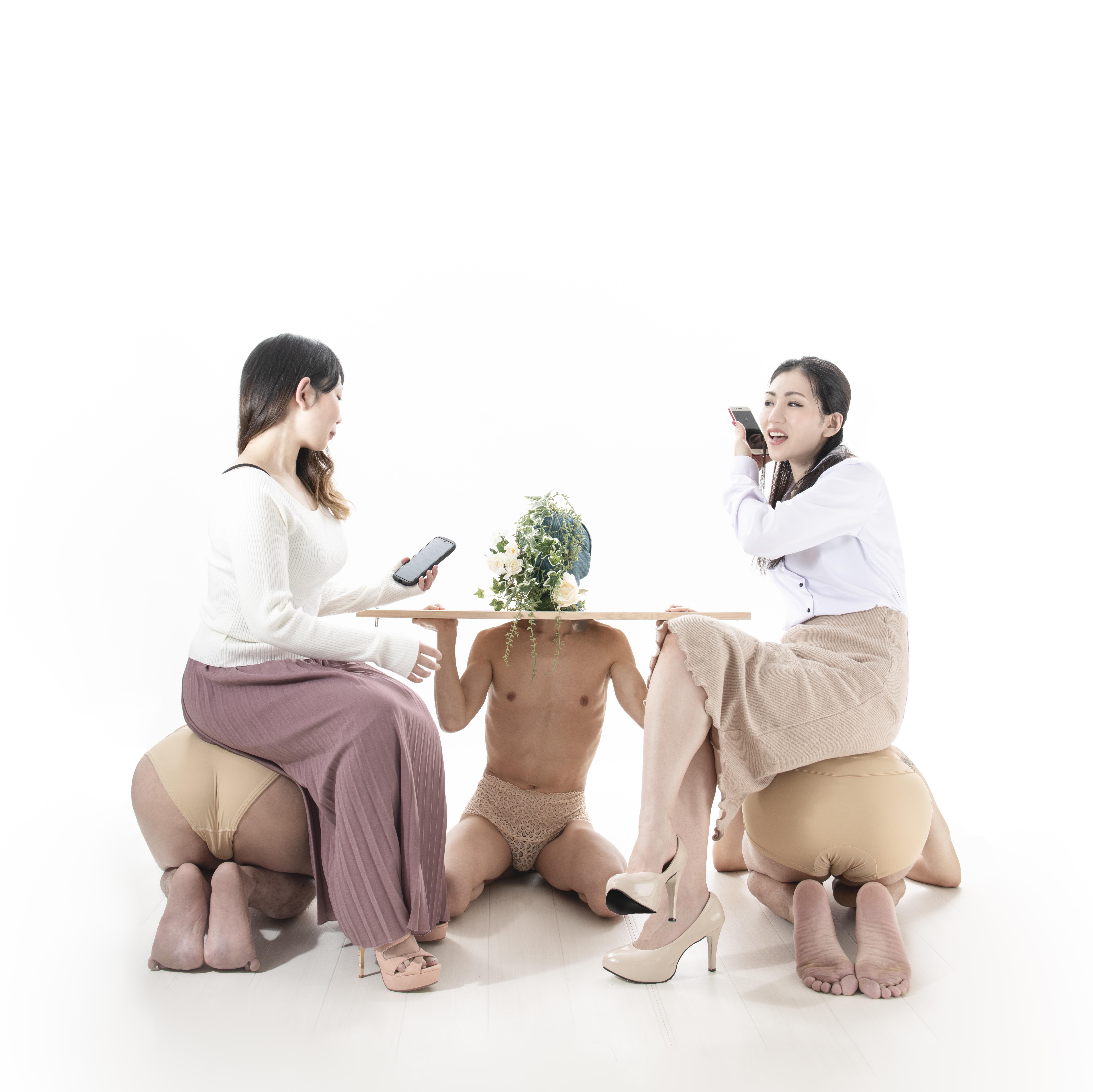 人間家具・カフェテーブル