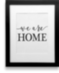 "downloadable print by shelly fraley ""we are home"""