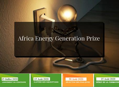 Africa Energy Generation Prize, un concours incontournable pour startups & porteurs de projets