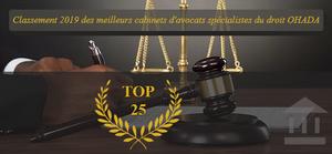 Classement 2019 du magazine LEX4   : Quels sont les meilleurs cabinets d'avocats du droit OHADA ?