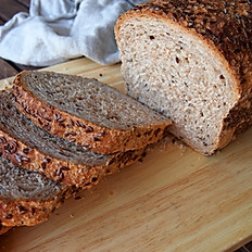 Heavy Rye Bread with Flax Seeds