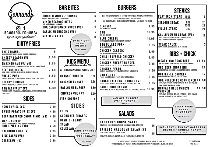 Garrards Placemat Menu.png