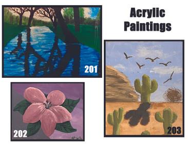 Acrylics Paintings 201-203