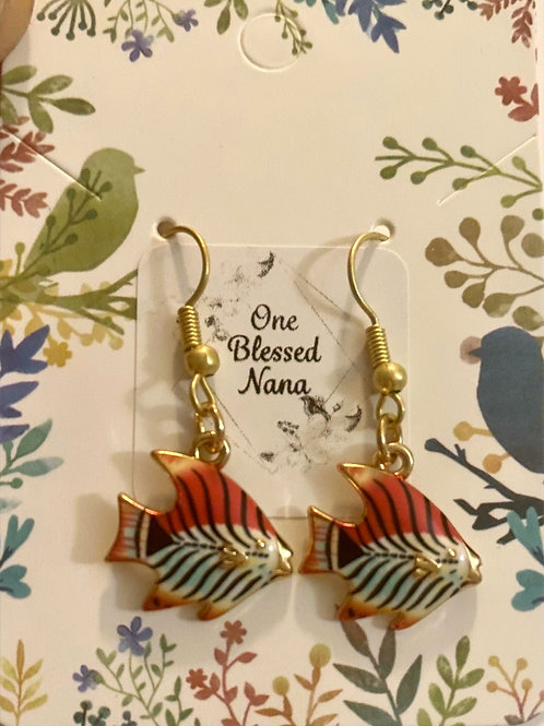 Tiger Fish Earrings
