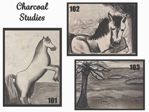 Small Charcoal Art Pieces