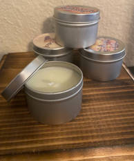 4 Pack Tin Candles