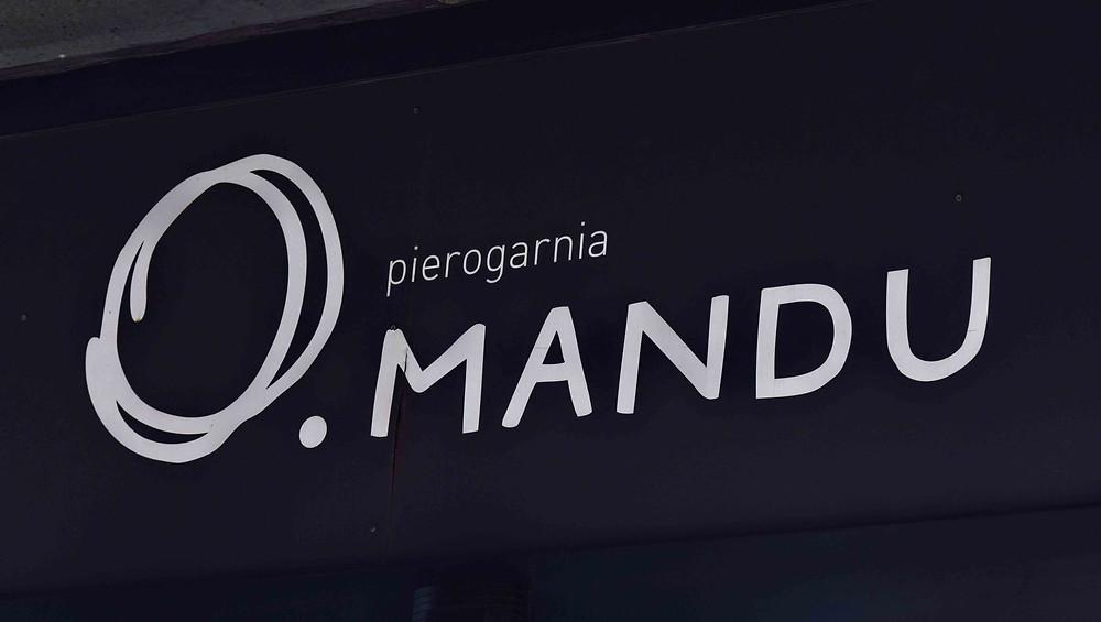 שלט מסעדת מנדו בגדנסק