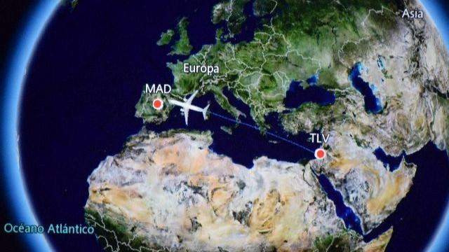 מסלול טיסה בצג המטוס