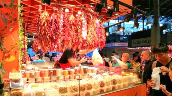דוכן פלפלים בשוק