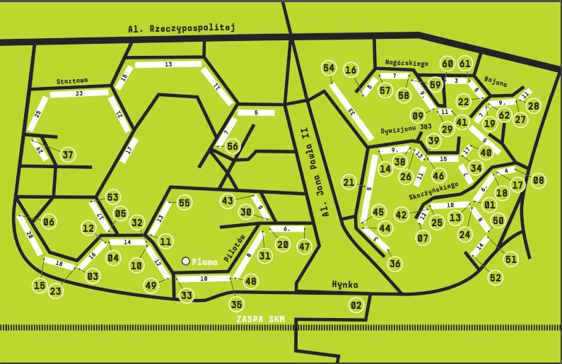 מפת היצירות בשכונת זאספה