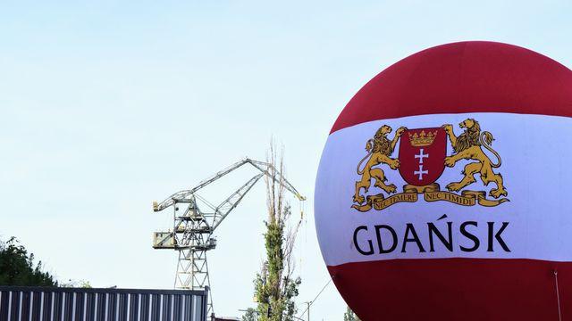 סמל העיר גדנסק על בלון פורח