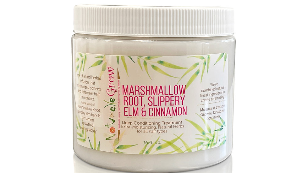 Natural Hair conditioner -Marshmallow Root Slippery Elm Deep Conditioner