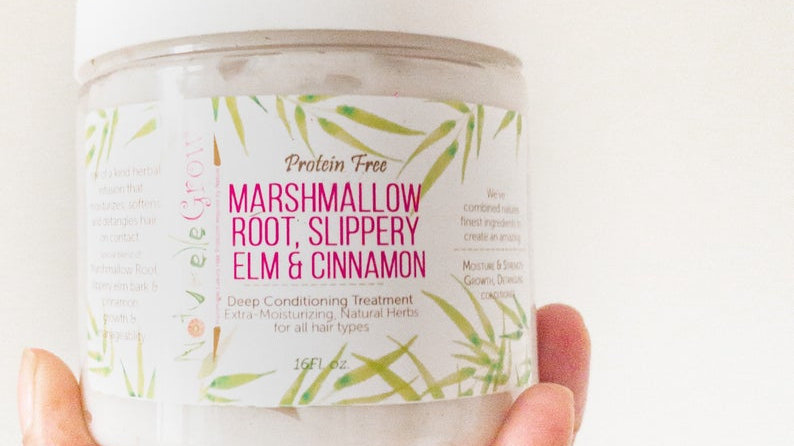 Protein free Marshmallow Root & Slippery Elm Bark Deep Conditioner