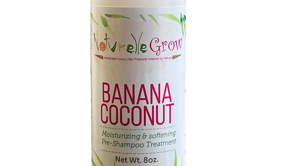 Pre Hair Shampoo Banana Coconut Pre-Poo Treatment NaturelleGrow