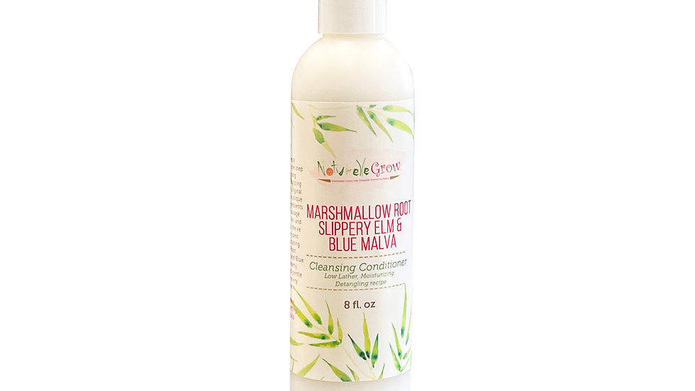 Marshmallow Root, Slippery Elm Hair cleansing conditioner Naturelle Grow Naturel