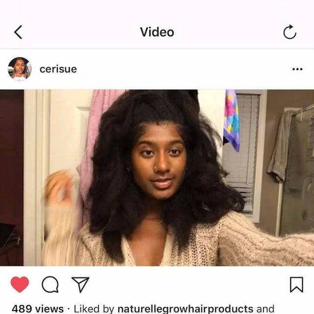 What 3years natural and only using @naturellegrowhairproducts can do for you..Just ask @cerisue the beautiful young lady in the video 💕 Don't forget our entire online store is marked down 25% off !! Catch the SALE before it ends  Don't forget to use