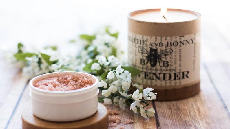 Scalp Massager Scrub -- Pink Passion Sea Salt Rejuvenating Scalp Scrub