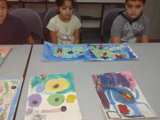 שעור אומנות עם תלמידי כתה ג במחוננים