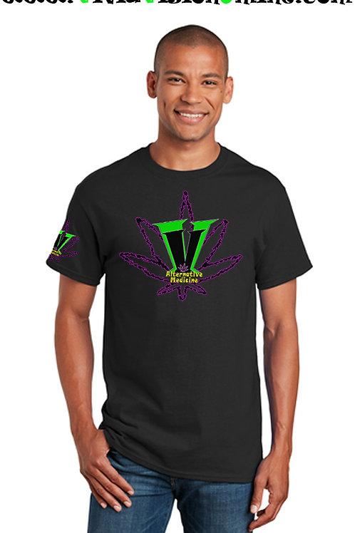 Vivid Vision Black Flower Logo 100% Cotton Tee