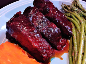 Crockpot Country Style Ribs with Honey Sweetened Barbecue Sauce