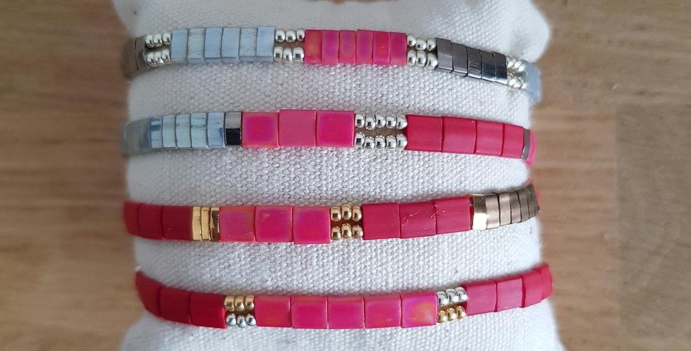 Bracelet Tila collection pink