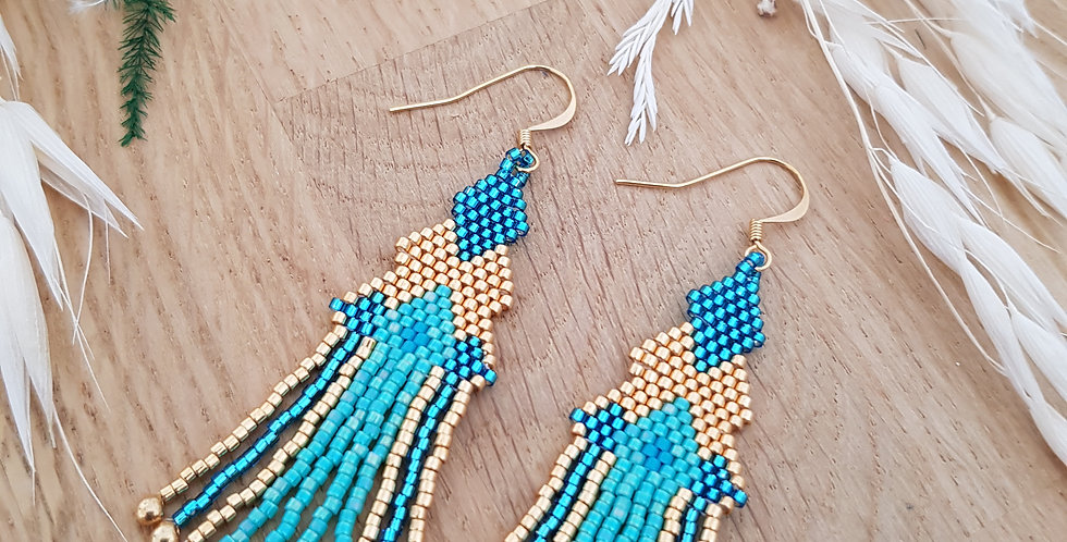 boucles-oreilles-tissage-indian-style-turquoise