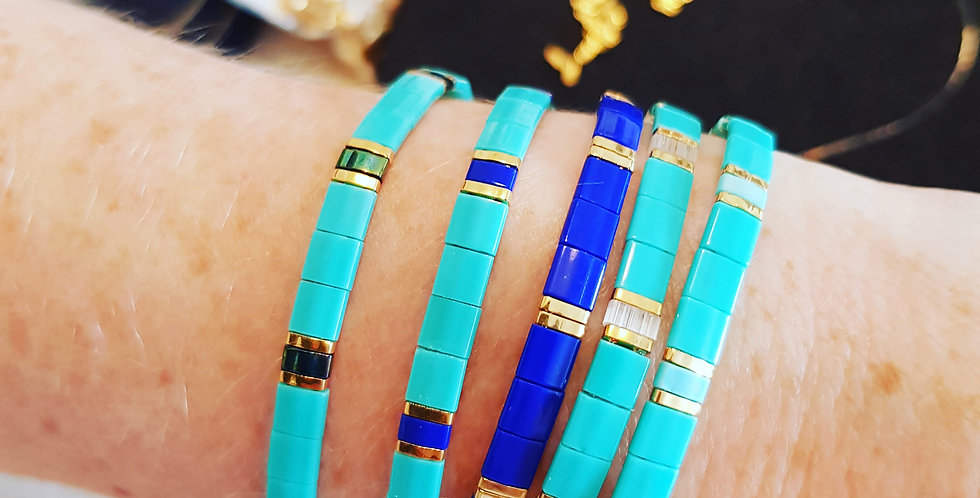 Bracelet Tila collection turquoise & blue