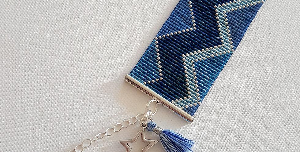 Manchette zigzag blue