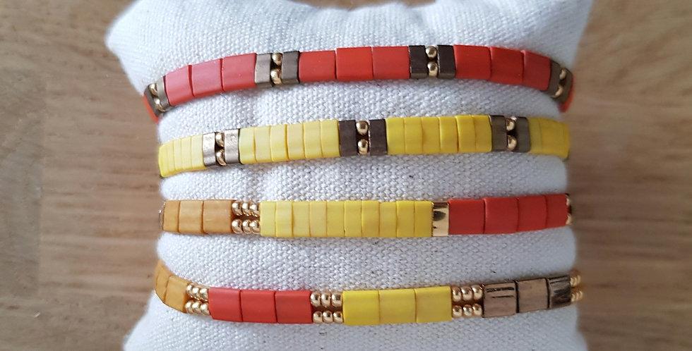 Bracelet Tila collection jaune et orange
